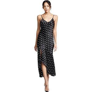 Cami NYC Sandra Silk Polka Dot Midi Dress